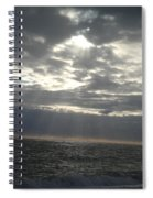 Winter Sun At Sea Spiral Notebook