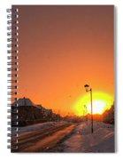 Winter Sun Glow Spiral Notebook