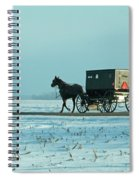 Winter Sun On Amish Buggy Spiral Notebook