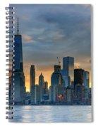 Winter Sunrise New York City Spiral Notebook