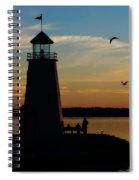 Winter Sunset At East Warf Spiral Notebook