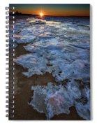 Winter Sunset On Fire Island Spiral Notebook