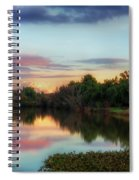 Winter Sunset On The Slough Spiral Notebook