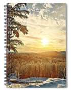 Winter Sunset Over The Mountains Spiral Notebook