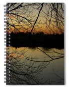 Winter Sunset Reflection Spiral Notebook