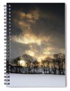 Winter Sunset, Trough Of Bowland, England Spiral Notebook