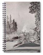 Winter Thermal Steam - Yellowstone Spiral Notebook
