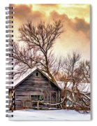 Winter Thoughts 2 - Paint Spiral Notebook