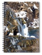 Winter Time At The Falls Spiral Notebook