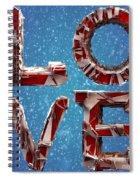 Winter Time Love Spiral Notebook