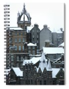 Winter Townscape Scotland Spiral Notebook