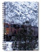Winter Train Spiral Notebook