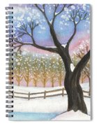 Winter Tree Landscape Spiral Notebook
