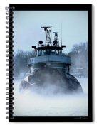 Winter Tug Spiral Notebook
