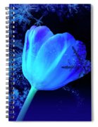 Winter Tulip Blue Theme 2 Spiral Notebook