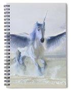 Winter Unicorn Spiral Notebook