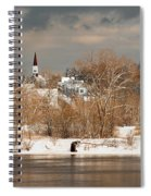 Winter View Of Allenstown Spiral Notebook