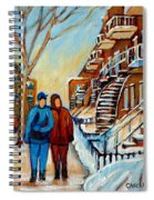 Winter Walk In Montreal Spiral Notebook
