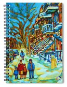Winter  Walk In The City Spiral Notebook