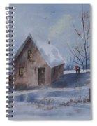 Winter Walk, Watercolor Painting Spiral Notebook