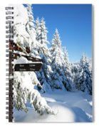 winter way in the Upper Harz Spiral Notebook