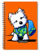 Winter Westie With Lime Spiral Notebook