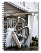 Winter Wheel Spiral Notebook