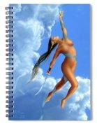 Winter White Spiral Notebook