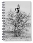 Winter Windmill Spiral Notebook