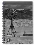 Winter Windmill Spiral Notebook