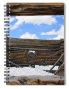 Winter Window 2 Spiral Notebook