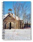 Winter Wisconsin Barn Spiral Notebook