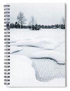Winter Wonderland Bw Spiral Notebook
