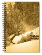 Winter Wonderland In Switzerland - Up The Hills Spiral Notebook