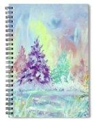 Winter Wonderland Aurora Borealis  Spiral Notebook