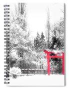 Winter's Entrance Spiral Notebook