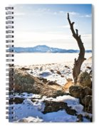 Winter's Silence - Pathfinder Reservoir - Wyoming Spiral Notebook