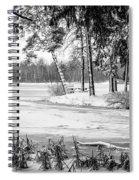 Winter's Tropical Landscape Spiral Notebook