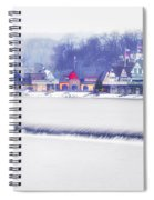 Wintertime At The Fairmount Dam And Boathouse Row Spiral Notebook