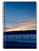 Wintery Sunrises  Spiral Notebook