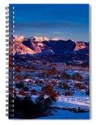 Wintry Sunset Glow  Spiral Notebook