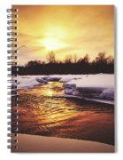 Wintry Sunset Reflections Spiral Notebook
