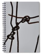 Wire And Snow Spiral Notebook