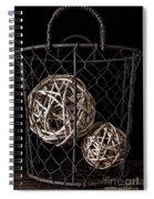 Wire Basket And Balls Still Life Spiral Notebook