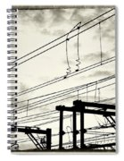 Wires And Coils Silhouette Spiral Notebook