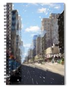 Wisconsin Ave Cubist Spiral Notebook
