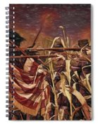 Wisconsin Black Hats At Antietam - Colored Pencil Spiral Notebook