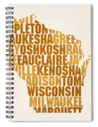 Wisconsin State Outline Word Map Spiral Notebook