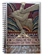 Wisdom Lords Over Rockefeller Center Spiral Notebook