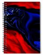 Wise Old Crow In Strange Light. Spiral Notebook